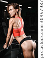 Pretty fitness sexy model luxury ass fat burning concept 30457987