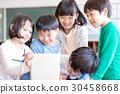 초등학생 수업 태블릿 30458668