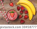 smoothie, banana, strawberry 30458777