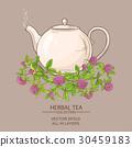 clover tea in teapot 30459183