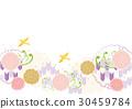 矢量 日式 箭头羽毛图案 30459784