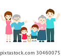 Happy family cartoon character vector. 30460075