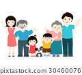 Happy family cartoon character vector. 30460076
