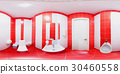 Restroom with toilet and washbasin 30460558