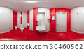 Restroom with toilet and washbasin 30460562