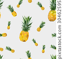 Seamless pattern with polygonal pineapple 30462595