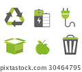 Recycling nature icons waste sorting environment 30464795