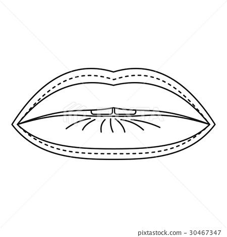plastic surgeon of lips icon outline style stock illustration