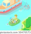 Fishing concept, cartoon style 30470573