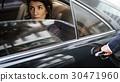 Businesswoman Corporate Taxi Transport Service 30471960