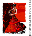 Flamenco spanish dancer woman 30476833