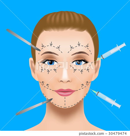 cosmetic surgery, vector, vectors 30479474