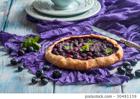 Homemade blueberry galette  30481139