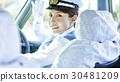 出租車女司機微笑肖像 30481209