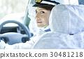 出租車女司機微笑肖像 30481218