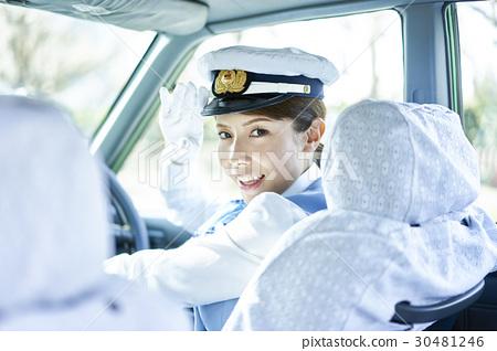 出租車女司機微笑肖像 30481246