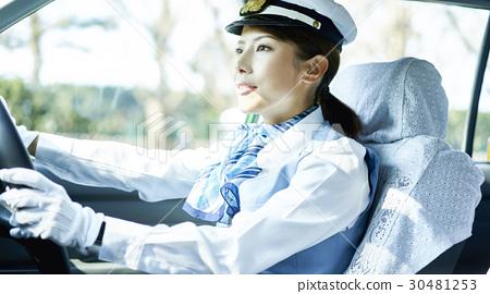 出租車女司機微笑肖像 30481253
