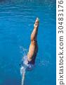 Leg, diving, Water 30483176