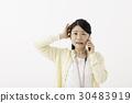 事業女性 電話 智能手機 30483919