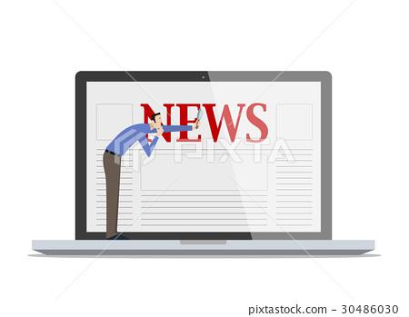Checking Fake News Concept. 30486030