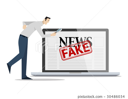 Checking Fake News Concept. 30486034