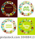 circle, garden, spring 30488413