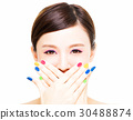 Beauty Girl face with Colorful Makeup concept 30488874