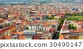 Top view of the red roofs of Prague downtown. 30490147