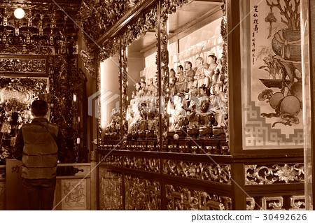 寺廟 廟宇 神 神像 廟裡 拜拜 對聯 30492626