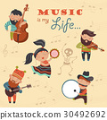 Cute musicians and dancer 30492692