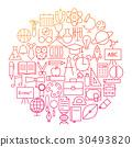 school, icon, line 30493820