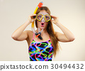 Woman with snorkeling mask having fun 30494432