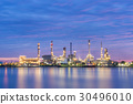 Oil refinery factory at dawn 30496010