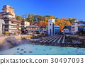 Kusatsu hot spring Yubata Autumn leaves 30497093