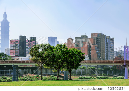 Cityscape of Taipei architecture 30502834