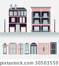 house exterior set icons vector illustration 30503550