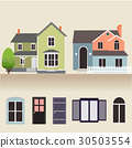 house exterior set icons vector illustration 30503554