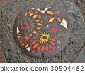 A manhole cover of Matsumoto city, Nagano, Japan. 30504482