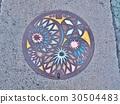 A manhole cover of Matsumoto city, Nagano, Japan. 30504483