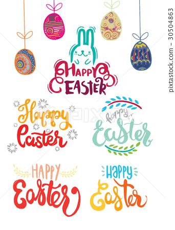 Hand written Easter  , Happy easter lettering 30504863