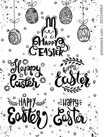 Hand written Easter  , Happy easter lettering 30504864