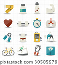 Fitness and healthcare icons 30505979