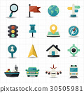 Map and location navigator icons 30505981