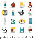Medical and healthcare icons 30505982
