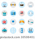 Flat Icons For Hotel Icons and Travel Icons Vector 30506401