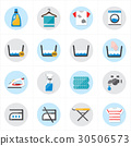 Flat Icons For Laundry and Washing Icons Vector 30506573
