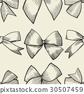 Seamless pattern with tie and bow 30507459
