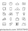 Hobbies and Activities Icons Line 30507840