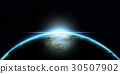 Planet Earth with glows 3D illustration 30507902