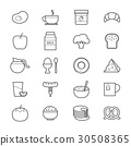 Breakfast Icons Line 30508365